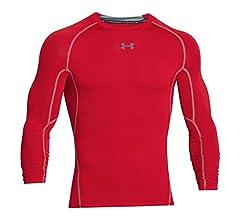 Under Armour UA HG Armour LS Camiseta, Hombre, Blanco (White/Graphite 100), M: Amazon.es: Deportes y aire libre