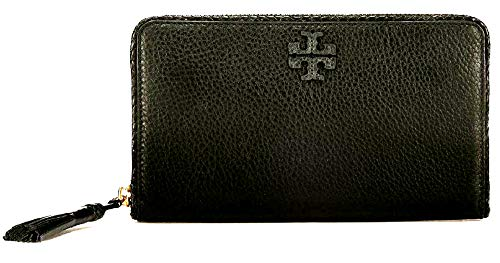 Zip Leather Continental Wallet - Tory Burch Women's Taylor Zip Continental Wallet Leather (Black)