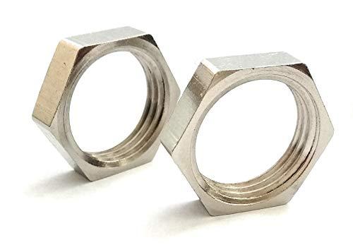 Inter Fittings Brass Nickel Pipe, Locknut 1/2