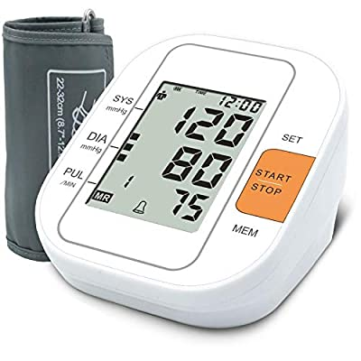 TaoQi Upper Arm Blood Pressure Monitor Upper Arm, FDA Approved Digital BP Machine for Home Use, 2 Users, 99 Sets Measuring Records Memory, Irregular Heart Rate Indicate, Pulse Rate Monitoring Meter