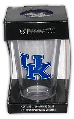 University Kentucky Wildcats Pint Glass and Coaster Set