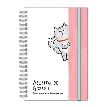 Mind Wave Linda libreta con Gatos, Tapa Dura y Banda elástica: Amazon.es: Hogar