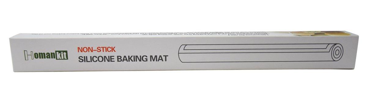 Homankit Silicone Baking Mat, Full Sheet Pan 15 3/4'' x 23 5/8'', Heat Resistance NonStick Reusable AntiSlip Odorless Sheet Grey by Homankit (Image #5)