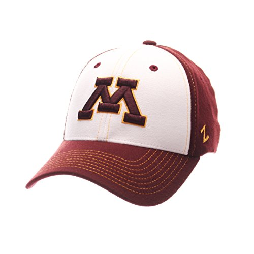 NCAA Minnesota Golden Gophers Adult Men Bleacher Z-Fit - Gophers Golden Minnesota Wool