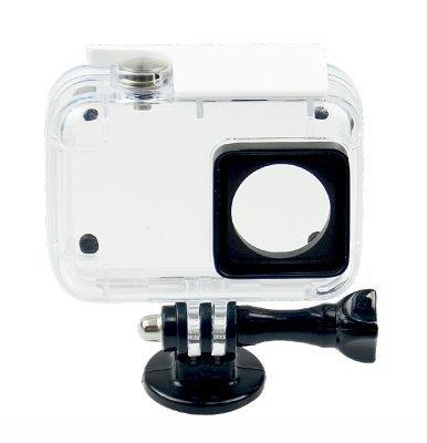 Lymbit® Funda Carcasa Hermética para Xiaomi Yi Action 4K Buceo Acuática Impermeable Sumergible hasta 40m Blanco