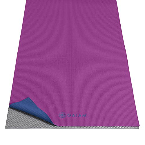 Gaiam Unisex Mat Towel, Grape/Navy, One Size