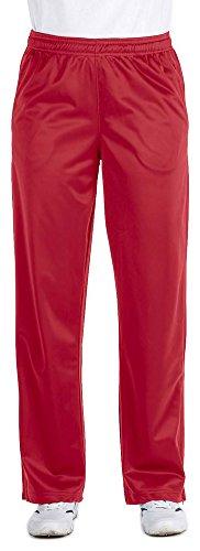 Harriton Ladies Tricot Track Pants, Small, Red (Harriton Mens Tricot Track)