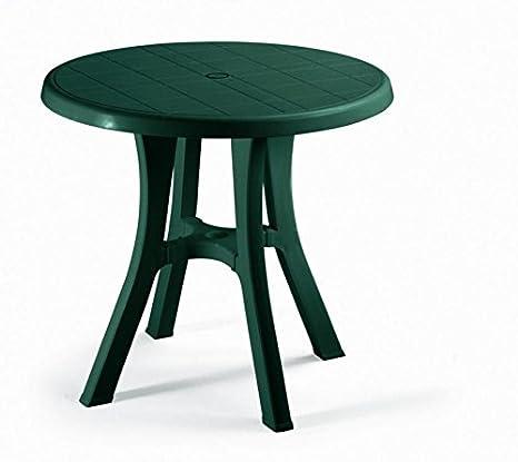 Tavolo Da Giardino Rotondo.Ideapiu 4 Tavolo Da Giardino Rotondo Per Esterno Verde Bosco Tavolo