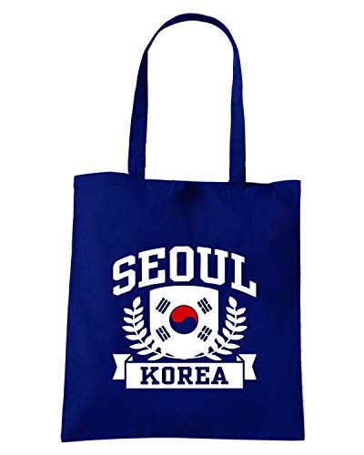 Speed Borsa SEOUL TSTEM0125 Navy Blu Shirt KOREA Shopper qqrpFCa