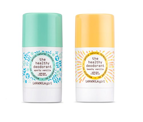Lavanila Natural Aluminum-Free Deodorant Duo Set. The Healthy Deodorant Beachy Vanilla and Sporty Vanilla Scents, 0.9 Ounces Each.