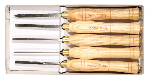 Set of 5 Micro Woodturning - Turning 5 Micro Tools