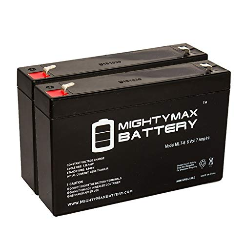 (Mighty Max Battery Ride On Replacement 6V 7AH Battery for Kids Ride On Power Car Wheels - 2 Pack Brand Product)