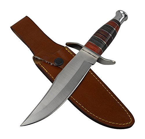 Rogue-River-Tactical-Fixed-Blade-Hunting-Knife-Large-Survival-Bowie-Knife-Jim-Bowie-Arkansas-Toothpick-With-Leather-Sheath