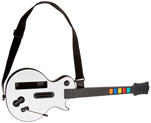 (Wireless Guitar for Wii Guitar Hero and Rock Band Games (Excluding Rock Band 1), Color White)