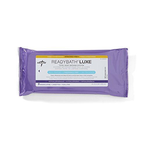Medline ReadyBath Unscented Antibacterial Cleansing