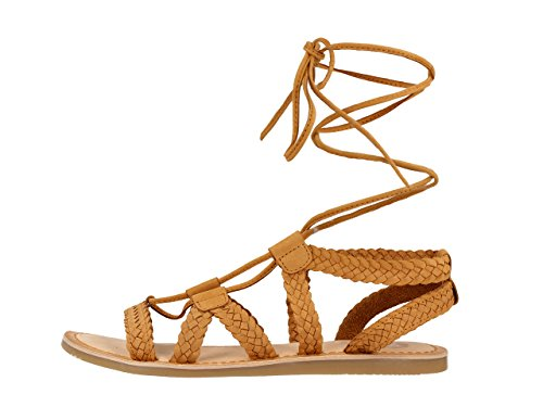 Gioseppo Women's Briasa Sandals, Brown Brown (Beige 30)
