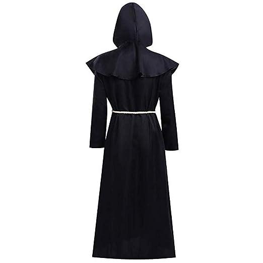 Nanlille Traje de Monje Medieval (Negro) Unisex Disfraz de ...
