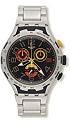 Swatch Men's YYS4006AG Analog Display Swiss Quartz Silver Watch