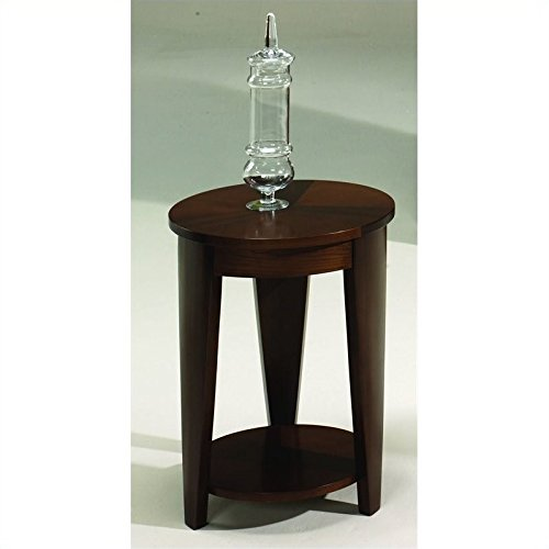 Hammary Oasis Round Chairside Table in Cherry/Walnut (Cherry Hammary)