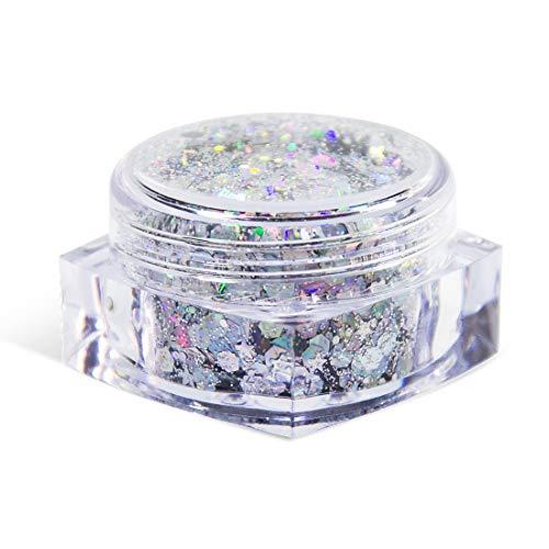 20G GALAXY Unicorn Glitter Cosmetic Chunky Glitter for Face Body Eye Hair Nail Makeup 0.7FL -