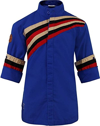 26ff4e06f OKS BOYS Blue Solid Cotton Blend Shirt for Boys  Amazon.in  Clothing ...
