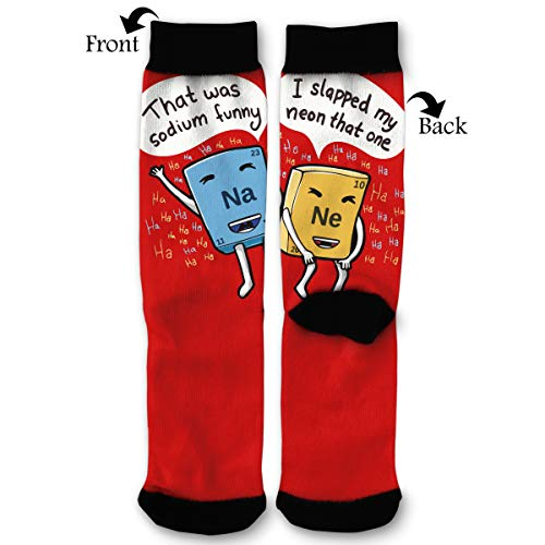 Chemistry Jokes Men & Women Casual Cool Cute Crazy Funny Athletic Sport Colorful Fancy Novelty Graphic Crew Tube Socks