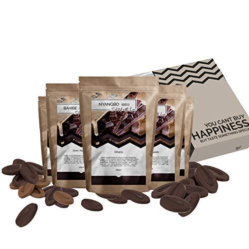 Schokolade Geschenkset 7 Schokoladen Geschenkbox | Weltreise Geschenkidee Schoko Geschenkset für Frauen Männer…