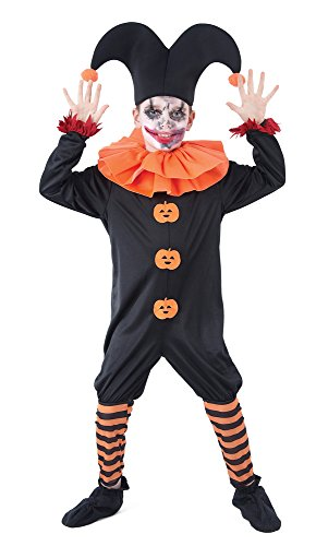 Pierrot Costume Uk (Medium Childrens Evil Jester Costume)