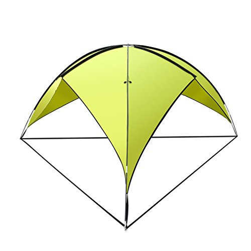 U-KISS Family Tents Outdoor 190T Waterproof Rivet Triangle Canopy Camp Tent Family Beach Awning (green)