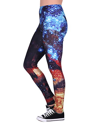 HDE Galaxy Print Leggings for Women -Manufacturer Closeout- Design Yoga Pants