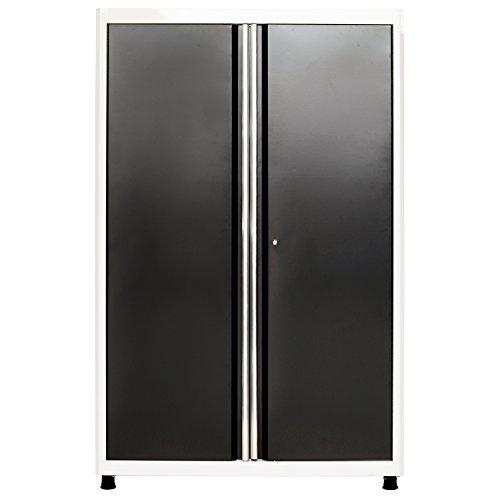 American Heritage AA3F462472-0222 Welded Steel Floor Cabinet in White Charcoal, 72 Height x 46 Width x 24 Depth