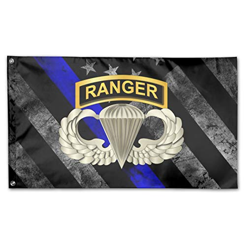 (Airborne Badge Ranger Tab Flag 3x5 Foot)