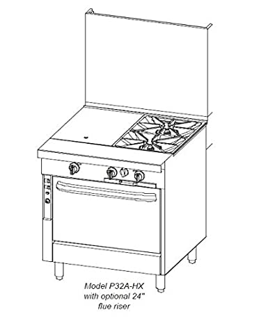 Southbend 32 in. Heavy Duty Range 2 Burner/Hot Top - P32N-XC