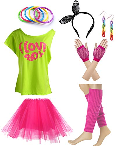 I love 80s 1980s Costume Accessories Outfit Set]()