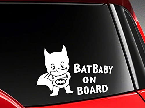 myrockshirt/® Aufkleber Bat Baby on Board Typ1 17 cm Autoaufkleber