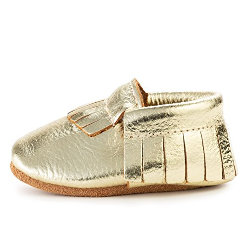 BirdRock Baby Moccasins - 30+ Styles for Boys & Girls! Every Pair Feeds a Child (US 9.5, Gold) ()