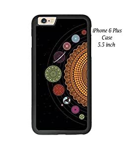 iPhone 6 Plus 5.5 Inch Case Cover,Plastic and TPU Durable Universe Solar System Planets Earth Case Cover for iPhone 6 Plus