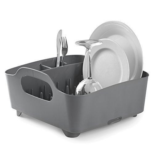 Umbra Tub Dish Drying Rack – Lightweight Self-Draining Dis
