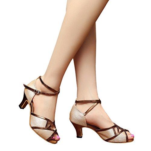 Cxs Ladies Open Toe Tacones De Boda Del Partido Zapatos De Baile De Salón Para Salsa De Tango Y Práctica, 2.4 Heel