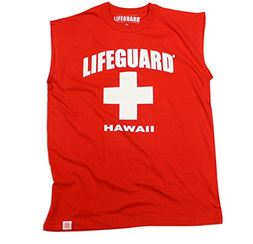 Maui Clothing Lifeguard Hawaii Mens Muscle Tee (X-Large)