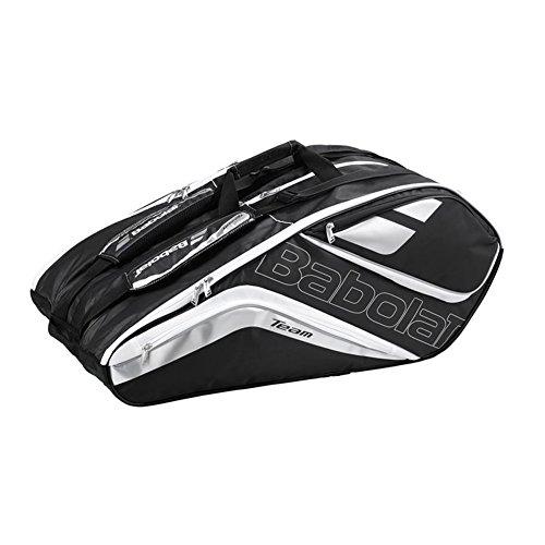 - Babolat Team Line Tennis Racquet Holder x12, Black/Silver