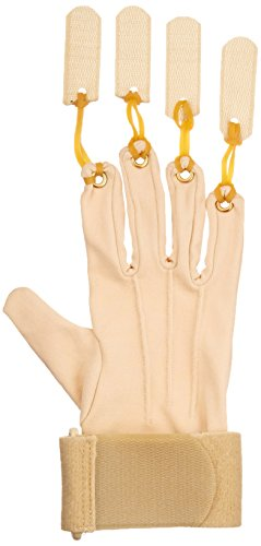 Sammons Preston Deluxe Traction Glove, Right Handed Exercise Glove, Rehabilitation & Physical Therapy Gloves for Flexion of Joints & Fingers, Hand Exerciser for Increasing Strength, Small/Medium by Sammons Preston