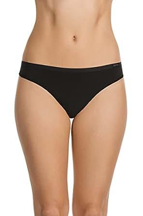 Berlei Women's Underwear Microfibre Nothing Naturals G-String Brief, Black, 10