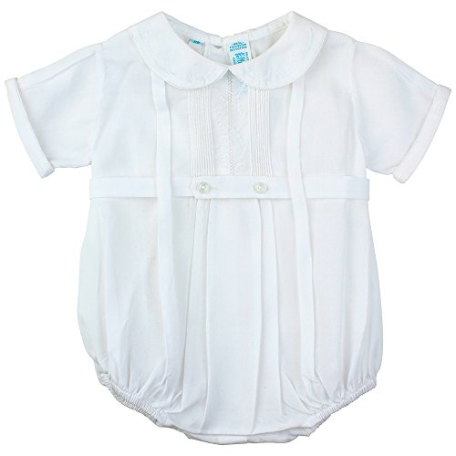 ys Dressy White Baptism Bubble Outfit Round Collar (3M)  ()