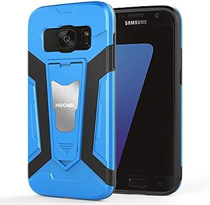 HOOMIL Resistente Funda para Samsung Galaxy S7, Shock-Absorción Silicona Carcasa para Samsung Galaxy S7 Case Cover - Azul (H3360)