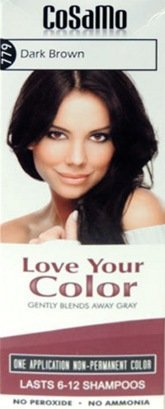 CoSaMo Love Your Color Hair Color 779 Dark Brown (Pack of 3) (Cosamo Hair Color compare prices)