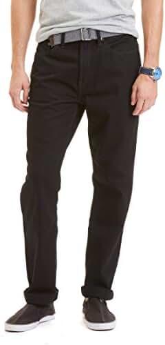 Nautica Mens Straight Fit Black Cavern Wash Jeans, Black, 32Wx30L