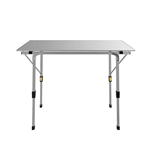INTEROUGE - Mesa Plegable de Aluminio (90 x 53 x 70 cm): Amazon.es ...