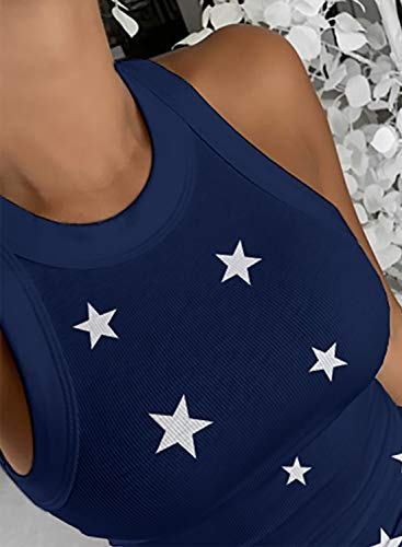 Dokotoo Womens Ladies Ribbed Thick Strap Low Cut Tight Slim Fitted Sporty Workout Tank Tops