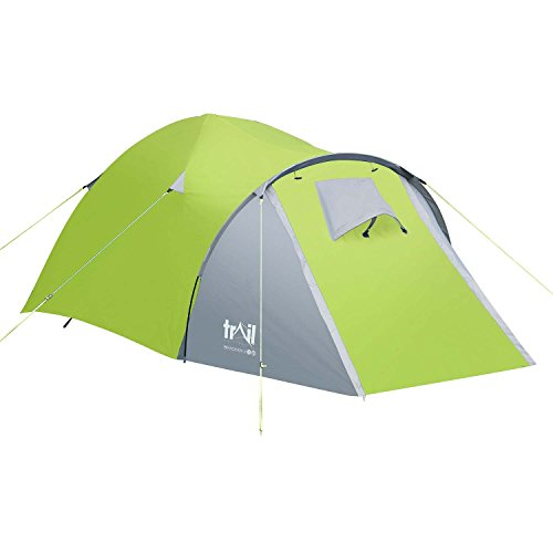 Trail 2 Man Dome Tent Large Porch Camping Festival Waterproof 3000mm HH